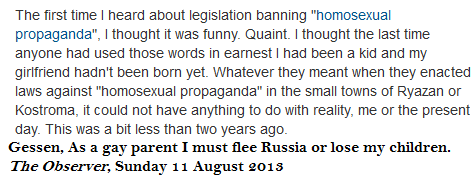 Russian anti gay laws